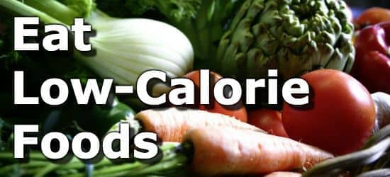 Vegetables and the suggestion to eat low calorie foods