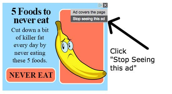 Choose stop seeing ads