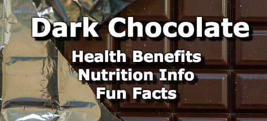 Dark Chocolate - Health Benefits, Nutrition Info, Fun Facts