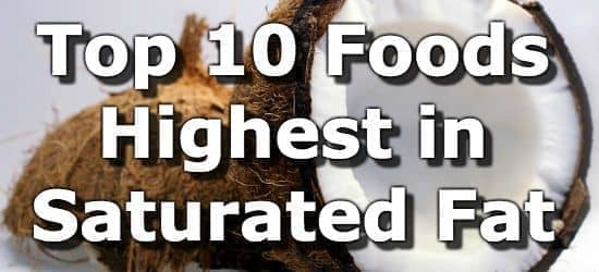 Top 10 Foods Highest in Saturated Fat
