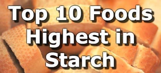 Top 10 Foods Highest in Starch