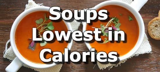 A Soup Calorie Ranking from Lowest to Highest