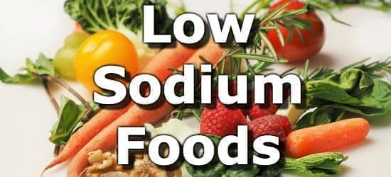 low salt diet foods