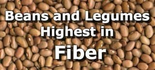 Beans and Legumes High in Fiber