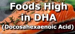 Foods High in Docosahexaenoic Acid (DHA)