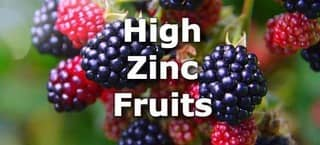 High Zinc Fruits