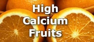 High Calcium Fruits
