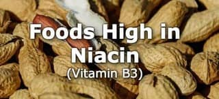 High Niacin Foods (B3) Foods