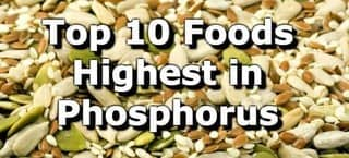 High Phosphorus Foods