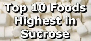 High Sucrose Foods