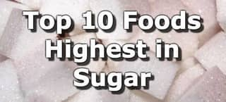 High Sugar Foods (To Limit or Avoid)