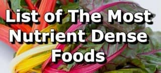 The Most Nutrient Dense Foods Per Calorie