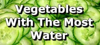 17 Vegetables Highest in Water