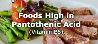 High Pantothenic Acid Foods (B5)