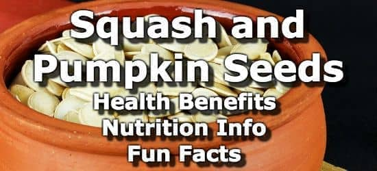 Squash and Pumpkin Seeds: Health Benefits, Nutrition Info, Fun Facts